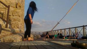 Yoga on the Tower